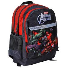 Marvel Avengers Backpack School Bag Gym Travel Shoulder Boys Assemble Black Red
