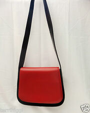 L'CREDI Black & Red leather shoulder bag VGC