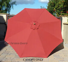 9ft Patio Outdoor Yard Umbrella Replacement Canopy Cover Top 8 Ribs Brick