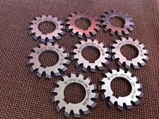 Lot 8pcs Dp20 14-1/2degree PA #1-8 Involute Gear Cutters