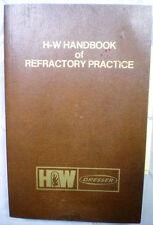 HARBISON-WALKER Dresser Refractories ASBESTOS Metalkase Firebrick 1979 Catalog