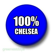 100% Chelsea 1 Inch / 25mm Pin Button Badge Football Soccer Blues Pensioners