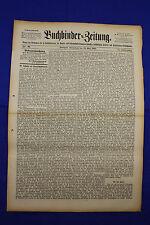 """BUCHBINDER=ZEITUNG 1897 Nr. 21 (22. Mai 1897) [""""Bookbinder=Newspaper""""]"""