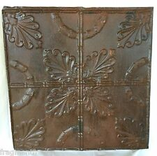 """24""""x 24"""" Antique Ceiling Tin Tile  *See Our Salvage Videos* Rust A10"""