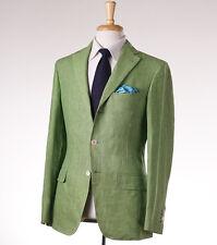 NWT $2495 BELVEST Lime Green Lightweight Linen Suit 38 R (Eu 48) Modern-Fit