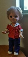 Mattel 15 in Saucy Funny Faces Doll red white blue outfit