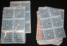 BINGO PAPER Cards Kit B, 6 on 5 up BONUS LINE Blue rotation FREE PRIORITY SHIP