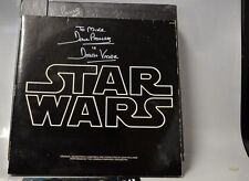 """Star Wars Trilogy """"The DF Laser Disc Box new signed by Darth Vader + SW soundtra"""
