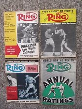 SIXTY THREE The Ring Magazine, 1950's & 1960's. Clay, Liston, Patterson, etc.