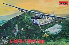 "Roden 619 Cessna L-19/O-1 ""Bird Dog"" 1/32 plastic model kit airplane"