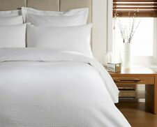 KING BED SIZE HIGH QUALITY WAFFLE DESIGN DUVET COVER BED SET - WHITE