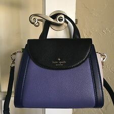 Kate Spade Cobble Hill Small Adrien Satchel Oyster Blue Multi PXRU6475