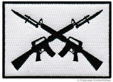 AR15 GUN BIKER PATCH embroidered iron-on ASSAULT RIFLE FLAG M16 BAYONET MILITARY
