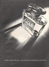 1969 Jean Patou JOY Perfume Vintage Bottle PRINT AD