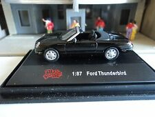 MALIBU  2003/04  FORD THUNDERBIRD  BLACK  CONVERTIBLE   1/87  HO CAR    DIE CAST
