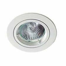 Robus Fixed Round Low Voltage Downlight White 12V Pk10
