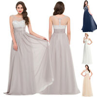 2016 BEADINGS Long Evening Formal Party Ball Gown Prom Wedding Bridesmaid Dress