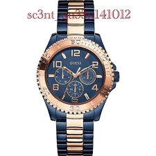 AUTHENTIC GUESS LADIES' BFF WATCH ROSE & NAVY TONE W0231L6 RRP:$459 New DEFECT