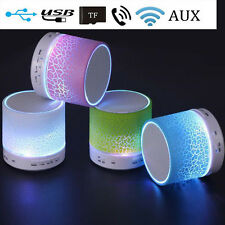 LED Mini Bluetooth Speaker Wireless Hands Free With USB Music For Phone PC