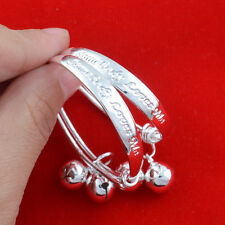 Lovely 2pcs Jewelry Fashion 925 silver letter Baby Bracelet gift   N-142