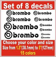 8 X BREMBO Brake Caliper High Temperature Decals Stickers Graphics Emblem Logo I