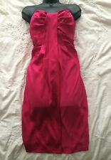 "ALLSAINTS All Saints Spitalfields ""MINI RIVA"" Pink Silk Dress Size 12 UK"