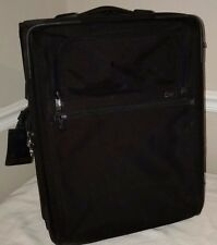 """TUMI Alpha Continental 2 Wheeled 22"""" Black Carry On Suitcase 22021DH"""