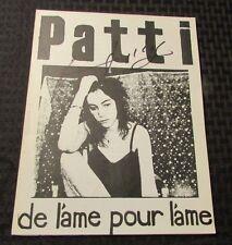 1977 PATTI SMITH FAN CLUB Fanzine JOURNAL #3 SIGNED VF-