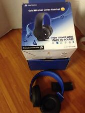 """Sony Playstation Gold Wireless """"Headset Only""""_NO ACCESSORIES_DEFECT_PS3 PS4 Vita"""