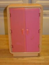 Vintage 1970's Barbie Dream Pink Furniture Armoire Closet Wardrobe neat