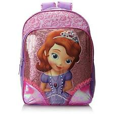 Disney 8087 Girls Sofia The First Pink Light-Up Glitter Kid's Backpack BHFO