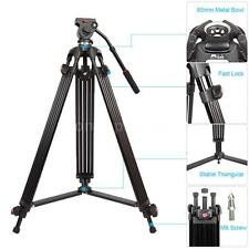"Professional 64"" Heavy Duty DV Video Camera Tripod with Fluid Pan Head Kit O5K4"