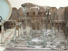 Western Decor Glassware 60 oz Pitcher Banded WESTERN KITCHEN DECOR Home Office
