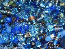 NEW 4/oz GLASS, Gem, Stone 6-15mm DARK BLUES MIXED LOOSE BEADS LOT NO JUNK