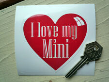 I LOVE MY MINI Heart shaped stickers Cooper S Clubman