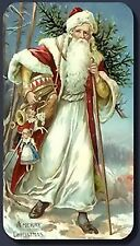 Santa Claus~counted cross stitch pattern #1650~Vintage Holidays Christmas Chart