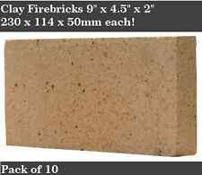 "2"" inch Clay Fire bricks cooker pizza oven firebricks BBQ heat set of 10"