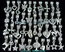 40pcs Tibetan Silver Cute Mix Dangle Charm Fit Bracelet ZY05