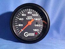 """Gaffrig 3 3/8"""" GPS Speedo Head 160 MPH. Black"""