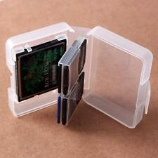 Transparent CF SD Card Compact Flash Memory Card Holder Box Storage Case Plastic