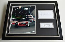 Jody Scheckter SIGNED FRAMED Photo Autograph 16x12 display Formula One F1 AFTAL