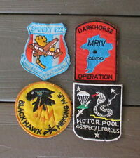 VIETNAM WAR PATCH-4 US ARMY Special Forces PATCHES