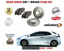 FOR HONDA CIVIC TYPE R 2.0 FN23 K20Z4 2007-2012 NEW REAR BRAKE DISCS + PADS SET