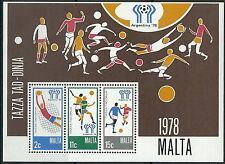 Malta - Fußball WM Argentinien Block 5 postfrisch 1978 Mi. 571-573