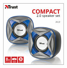 NEW TRUST 21182 XILO 2.0 8W MAX 4W RMS USB POWERED SPEAKER SET, MINOR BOX MARK