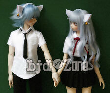 NEW School uniform Short sleeve Couples dress 1/3 boy 1/3 girl  LUTS BJD Clothes