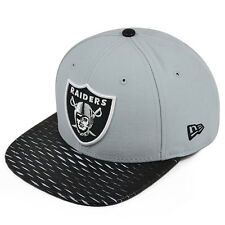 Oakland Raiders New Era Leather Rip Snapback 9Fifty NFL Hat