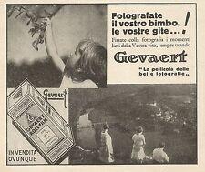 Z0395 Gevaert - Fotografate il vostro bimbo - Pubblicità del 1931 - Advertising