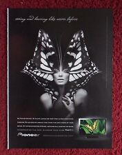 2008 Print Ad Pioneer KURO Plasma TV Television ~ Surreal Girl Monarch Butterfly