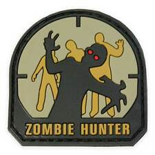 NEW 3D PVC Zombie Hunter Army Military Tactical Velcro Morale Patch Classic